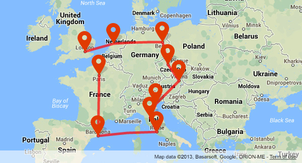 Trip Planner Driving Related Keywords and Suggestions Trip Planner – Europe Travel Map Planner