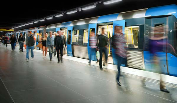 A metro station
